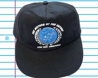 "43a7a15b5bd5c Vintage 90s Star Trek Omnipedia ""The History of the Future"" Universal  Snapback"