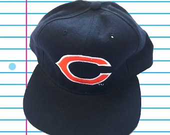 2c29631b95446 Vintage 90s Chicago Bears New Era Plain Logo Snapback Hat