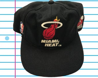 bb5e3b5fb46 Vintage 90s Miami Heat Sports Specialties Plain Logo Snapback Hat
