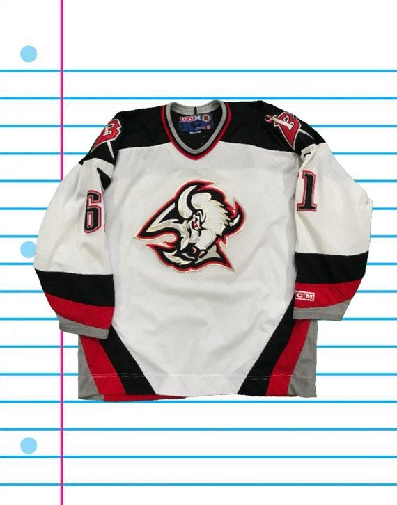cea75b36b Vintage 90s Buffalo Sabres Maxim Afinogenov 61 CCM Hockey