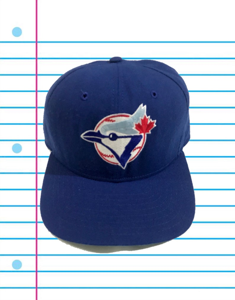 32f813ab898 Vintage 80s Toronto Blue Jays New Era Pro Model Snapback Hat