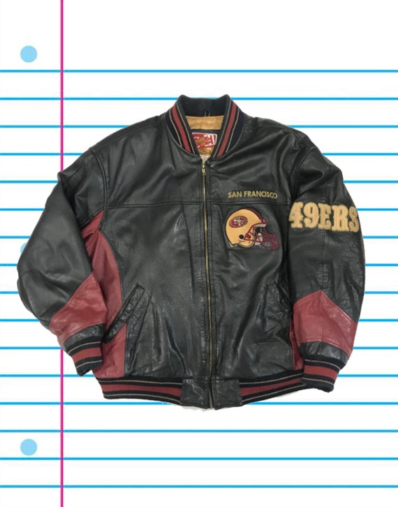 online store 7003d b95b5 Vintage 90s San Francisco 49ers Carl Banks and G-III NFL Football Leather  Jacket. Size Large