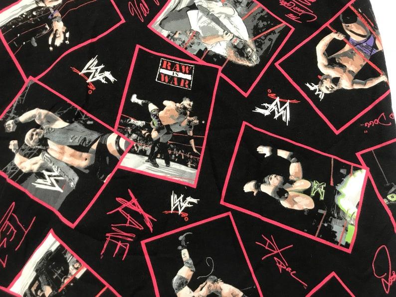 Size XL Vintage 90s WWF Attitude Era Raw Is War Button Down Shirt