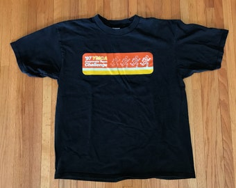 Vintage 90s Nike Race Crew '97 YMCA Corporate Team Challenge T Shirt. Size XL