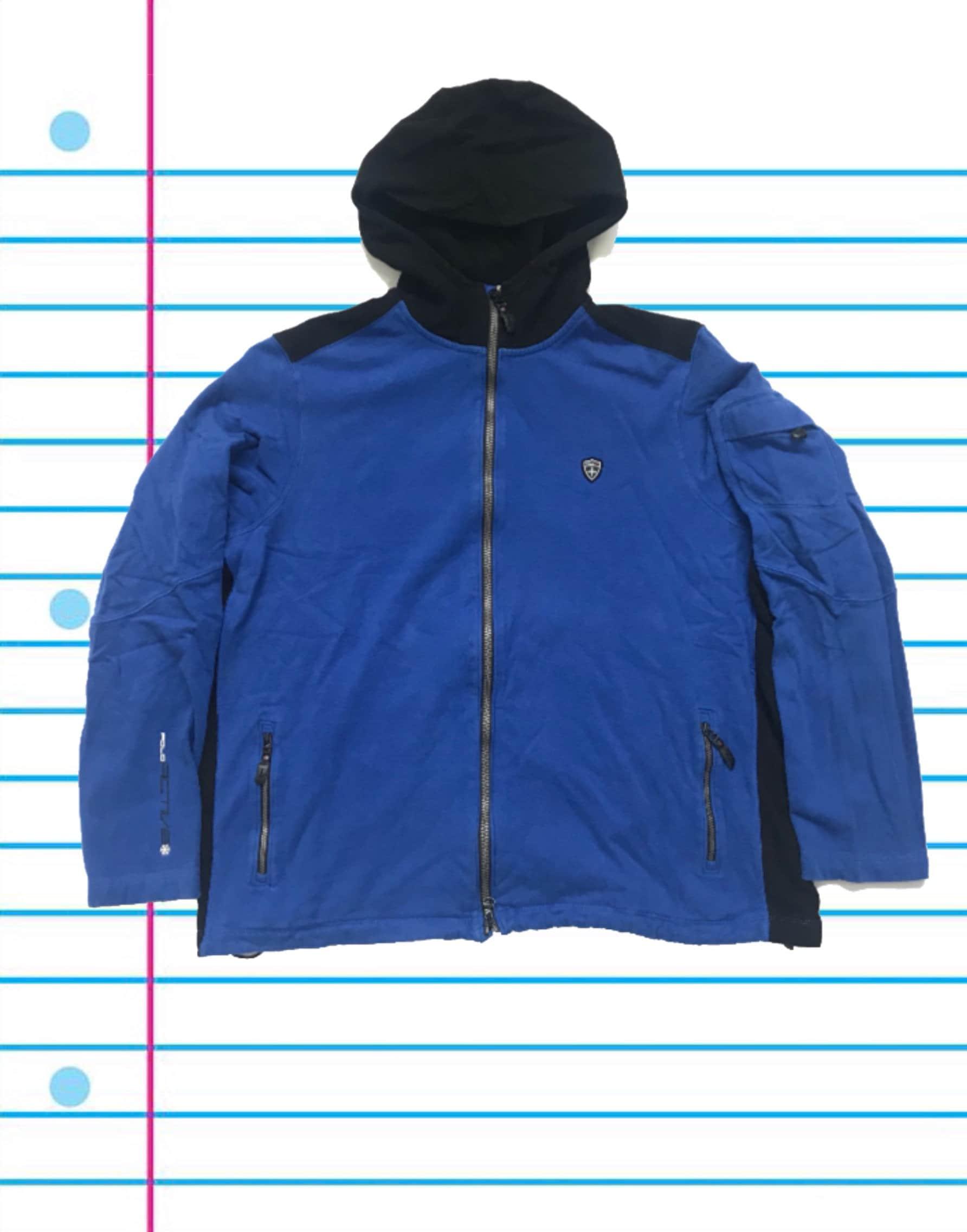 Vintage des années Blue 90 Polo RL Active Ralph Lauren Blue années Crest  Full Zip Hoodie c31f6431a2f7