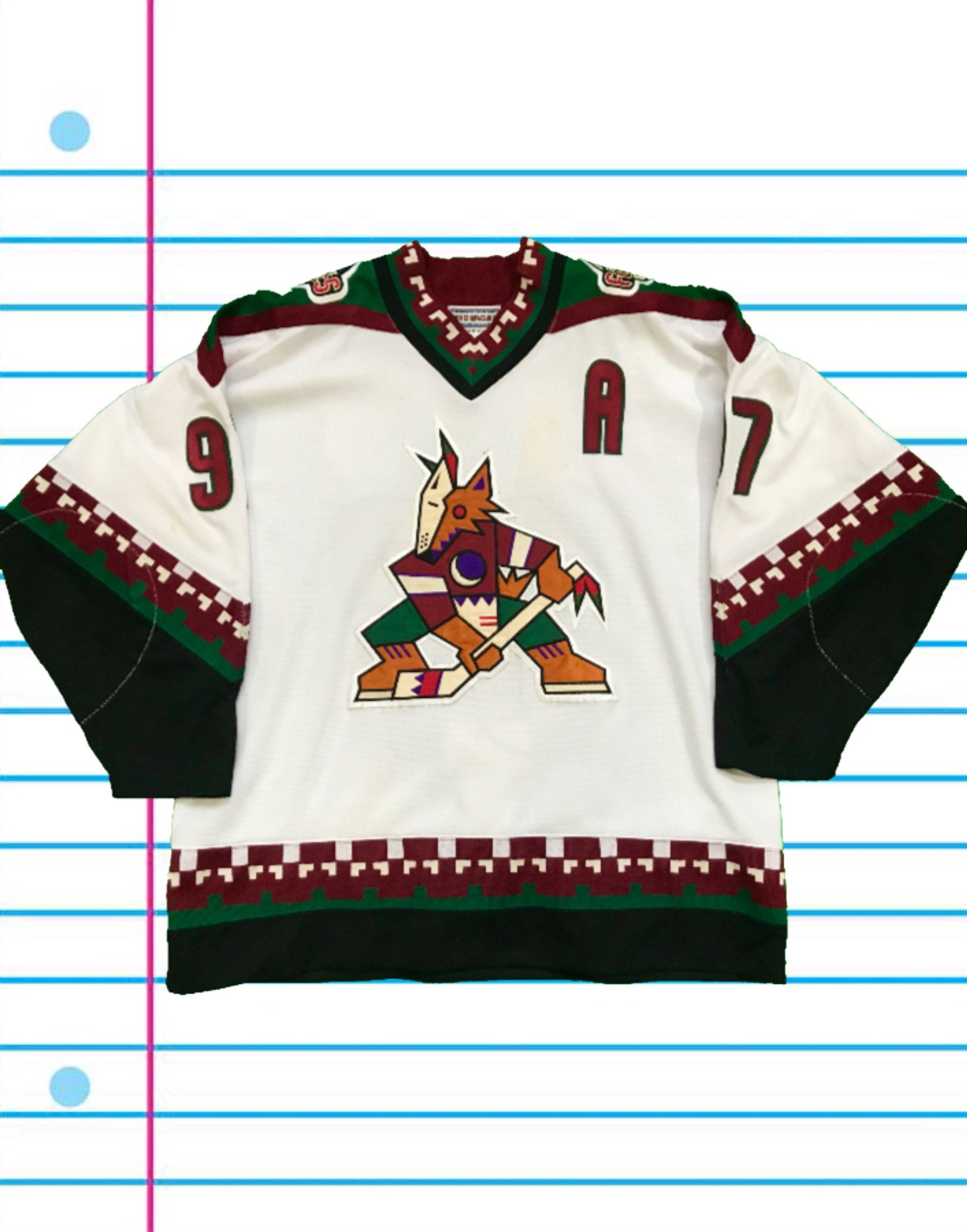 quality design 8605b 0662a Vintage 90s Phoenix Coyotes Authentic Starter Jeremy Roenick #97 Center Ice  Hockey Jersey. Size 54-R