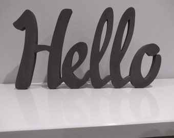CARIAD welsh freestanding wooden plaque//sign