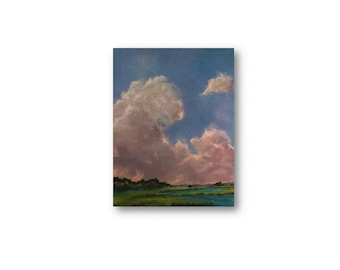 Cloud painting Christian painting art original painting Anticipation encouragement original canvas art painting enooga