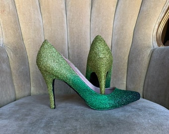 d29e510d0a5db Green ombre high heels. Custom made to order in various | Etsy