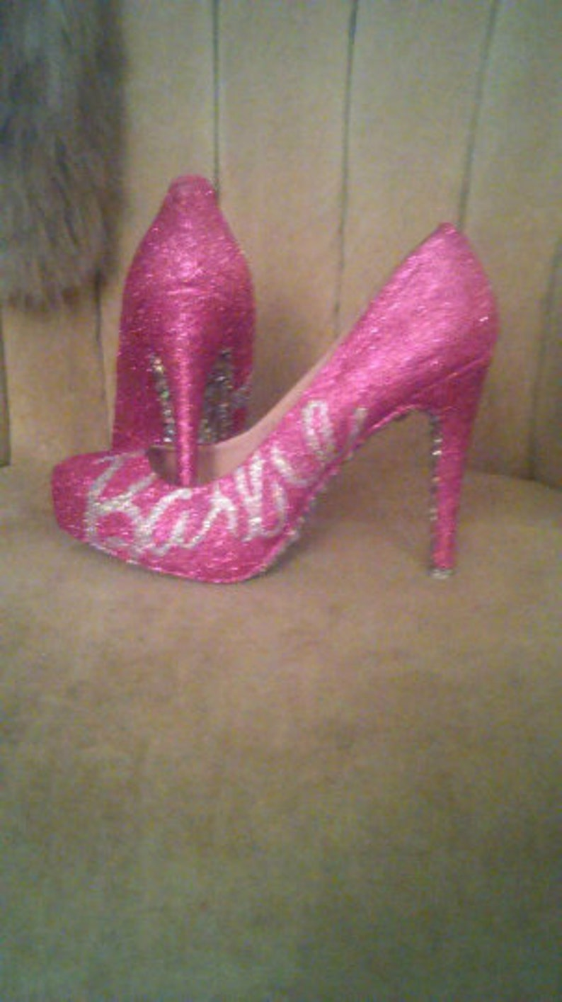 6aa0525f4f6 Custom made high heels sizes 5.5-11 made to order. Pink Barbie