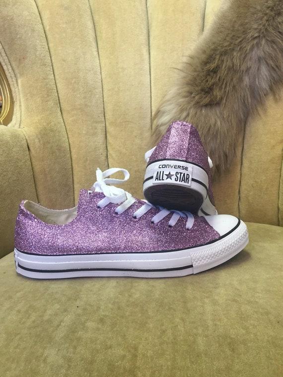 67d5704fca59 Authentic converse all stars in lavender glitter. Custom made