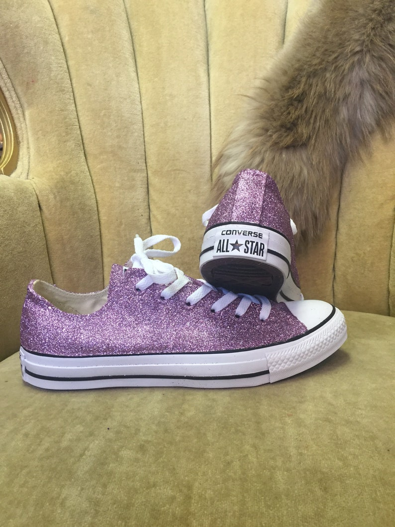 2444a8215d4 Authentic converse all stars in lavender glitter. Custom made