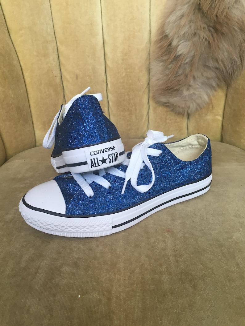 e79534e8f891 Authentic converse all stars in blue glitter. Custom made to