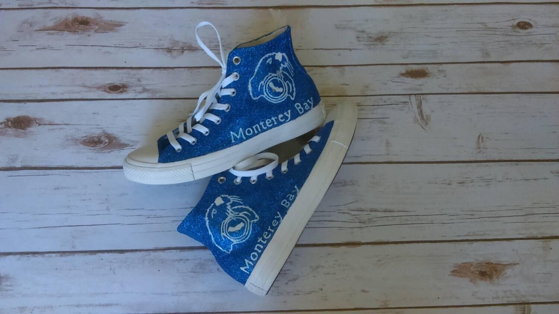 87618edf2ae4 Custom school mascot themed converse shoes. custom converse