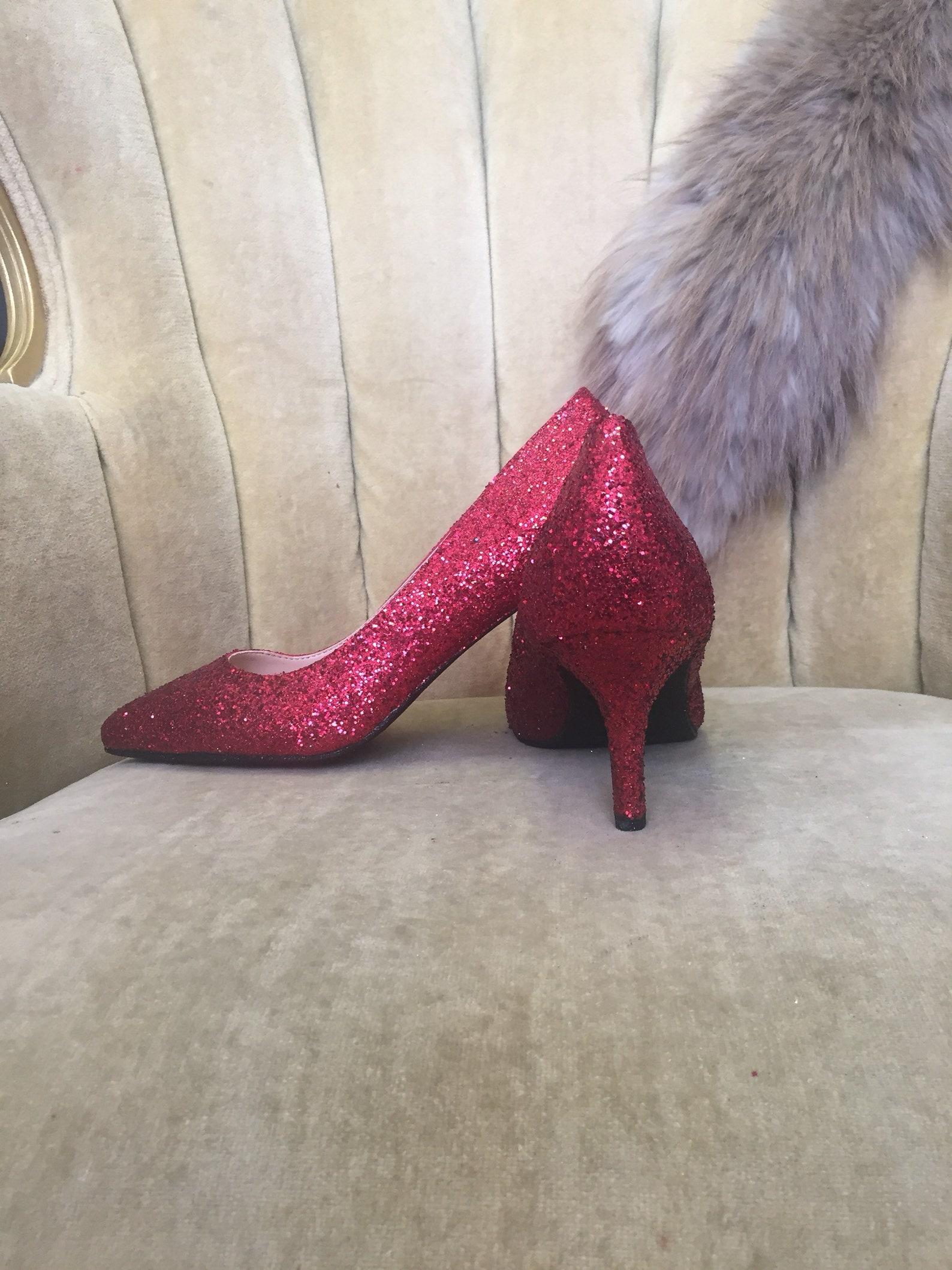 custom made to order, glitter high heels and ballet flats. bridal bundle