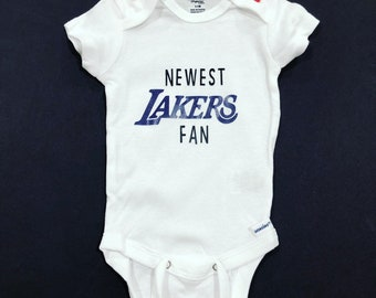 Los Angeles Lakers Baby Bodysuit Basketball Custom NBA One Piece Newborn Jersey