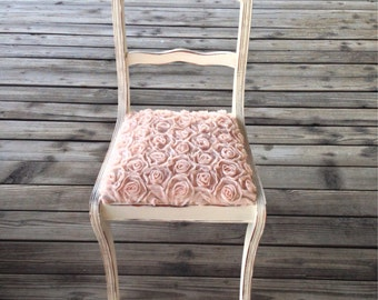 SOLD!!!  Vintage Rosette Shabby Chic Accent Chair