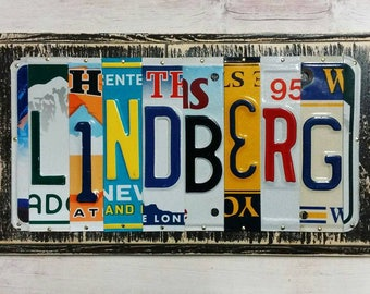 Personalized License Plate Art - Christmas Gift - Car Guy Gift - Father Dad Gift- Gift for Him - Mancave Art - Gift for Dad - Dad Garage Art