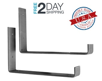 "2 Pack - 11.25""L x 6""H Hook Shelf Brackets"