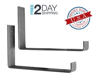 "2 Pack - 9.25""L x 6""H Hook Shelf Brackets"