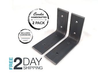 """2 Pack - 4""""Lx3""""H Angle Shelf Bracket"""