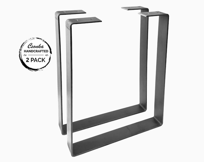 "Featured listing image: 2 Pack - 1.5"" Wide Square U-Shape Metal Legs"