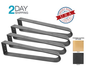 4 PACK - Flat Bar Hairpin Metal Legs