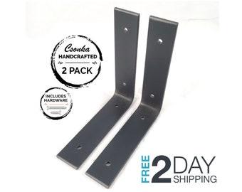 """2 Pack - 6""""Lx6""""H Angle Shelf Bracket"""