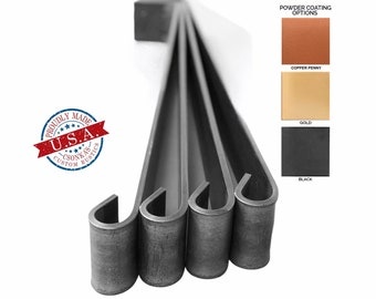 """4 Pack - (2"""" Wide - 1/4"""" Thick Metal) (Size Range: 6-35""""L) Straight Metal Legs"""