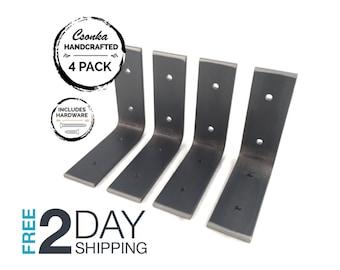 """4 Pack - 4""""Lx4""""H Angle Shelf Bracket"""