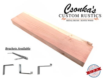 Straight Edge Wood Shelves (CEDAR)