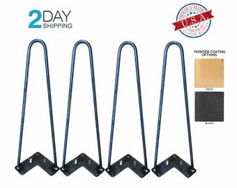 Round Two Rod Hairpin Metal Legs (4 PACK Leg Ordering)