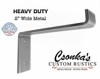 "Heavy Duty Custom Lip Shelf Bracket (2"" Wide - 1/4"" Thick)"