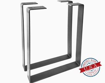 "2 Pack - 1.5"" Wide Square U-Shape Metal Legs"