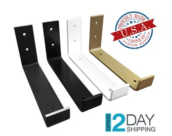 SINGLE Powder Coated Color Hook Shelf Brackets