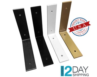 SINGLE Powder Coated Color Angle Shelf Brackets