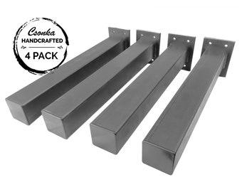 "Square Tube Legs - 4 Pack - (2"" & 1.5"" Tube - Size Range: 2-40""L)"