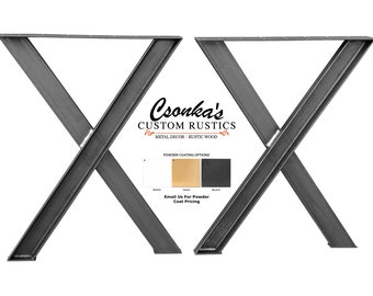 "2 Pack - C Channel X Leg Brackets (Size Range: 16-35""L x 16-35""H)"
