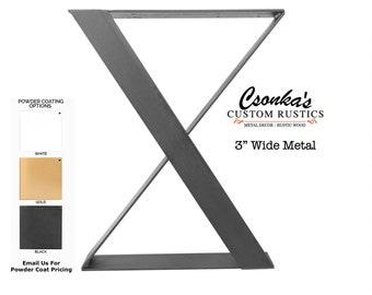 "2 Pack - Z Leg Style Table Brackets (Size Range: 16-35""L x 16-35""H)"