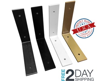 2 Pack - Powder Coated Color Lip Shelf Brackets