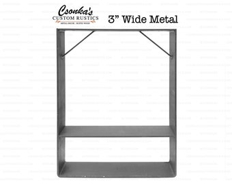 "2 Pack - (3"" Wide - 1/4"" Thick Metal OPTION #2) (Size Range:  16-35""L x 16-35""H)"