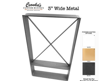 "2 Pack - (3"" Wide - 1/4"" Thick Metal OPTION #3) (Size Range:  16-35""L x 16-35""H)"
