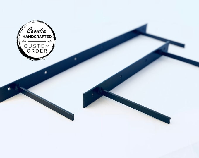"""Featured listing image: Floating Shelf Brackets - Size's Range From: 10""""L to 78""""L Brackets"""