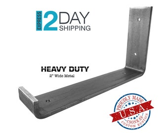 "Heavy Duty Custom Lip Shelf Bracket (2"" Wide - 1/4"" Thick)"