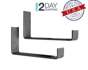 "2 Pack - 7.25""L x 4""H Hook Shelf Brackets"