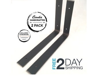 """2 Pack - 12""""Lx8""""H Angle Shelf Bracket"""