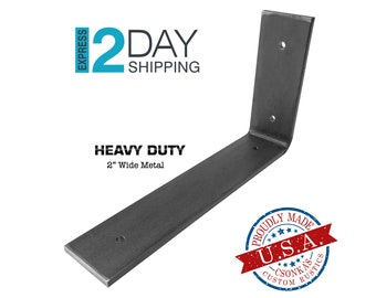 "Heavy Duty Custom Angle Shelf Bracket (2"" Wide - 1/4"" Thick)"