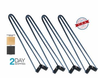 Round Three Rod Hairpin Metal Legs (4 PACK Leg Ordering)