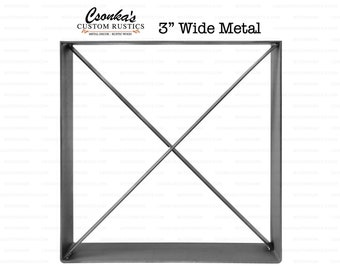 "2 Pack - (3"" Wide - 1/4"" Thick Metal OPTION #1) (Size Range:  16-35""L x 16-35""H)"