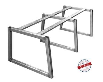 Wide Base Trapezoid Tube Leg, Table Leg, Metal Table Legs, Dining Table Leg, Kitchen Table Leg, Desk Leg, Furniture Leg, Hairpin Leg, 2x2